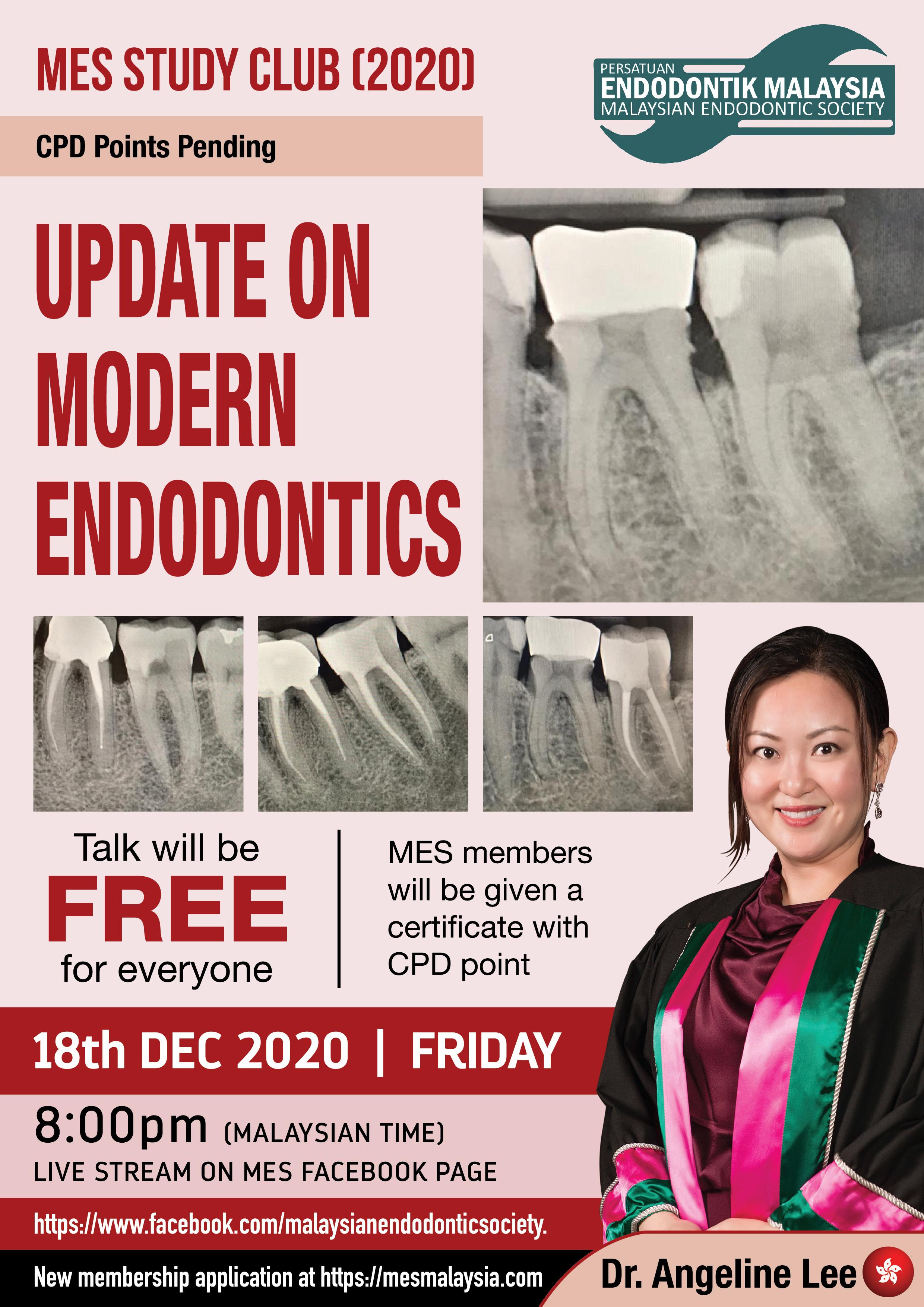 2020 7th Study Club Webinar: Update on Modern Endodontics